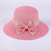 Korean big bow straw hat for women foldable girls summer hat holiday Beach  all matched sun 7319393d532a
