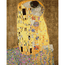 Klimt & Kiss - Abstract oil painting wall art cuadros decoracion picture painting by numbers on canvas Modular pictures DPH006