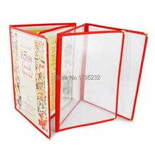 Advertising photo Album A4 3 pages PVC Recipe frame book Restaurant food shop menu frame file list picture albums(China)