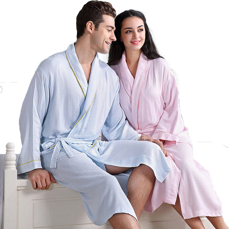 Bamboo Fiber bathrobe women men nightgown sleepwear girls boys blanket fleece lovers long soft robe spring autumn(China (Mainland))