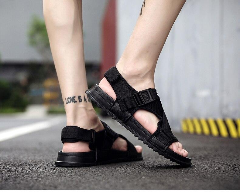 Slippers Men's Sandals Men's Summer Men's Sandals And Slippers Non-slip Beach Fashion Outdoor Wear Drag Trend 83 Online shopping Bangladesh