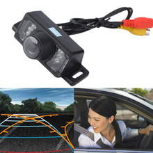 Hot sale! New Promotion Car Rear View Camera Reverse Backup Camera 7 LED IR Night Vision Waterproof Color CMOS Car Parking Camer