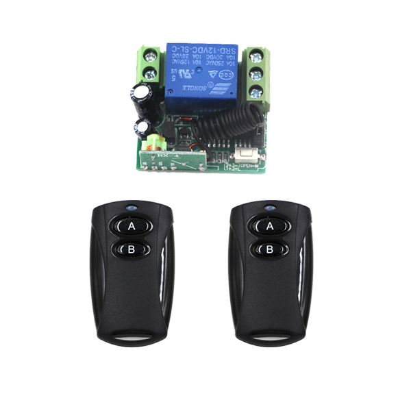 DC12V 10A 1 CH Wireless RF Remote Control Switch 315MHZ / 433MHZ 2 Transmitter + Mini Receiver Inter-lock SKU: 5566<br><br>Aliexpress