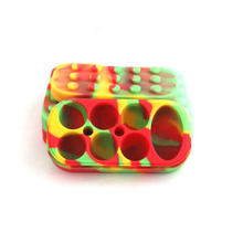 4 Ml *6 +10 Ml *1 Rectangle Silicone Jars Dab Wax Vaporizer Oil Container Storage Container 500 Pcs /lot(China)