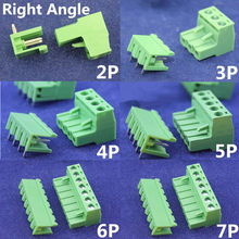 10 sets ht5.08 2/3/4/5/6/7/8 pin Right angle Terminal plug type 300V 10A 5.08mm pitch connector pcb screw terminal block
