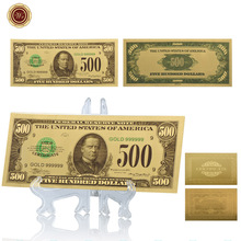 WR American Challenge Gold Banknote USD 500 American Art Crafts Quality 24k Gold Plated Banknote Copy Paper Money(China)
