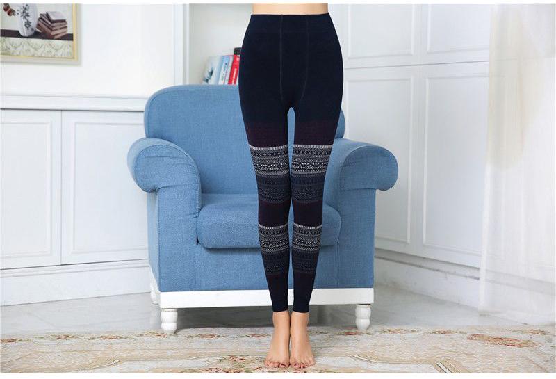 Winter Leggings, Women's High Waist Warm Leggings 7