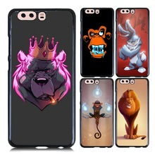 for Huawei P10 Lite Crown Bear Case Gray Rabbit Flame Monkey Painting Favourite Hard Back Cover Case for Huawei P10 P10 Plus(China)