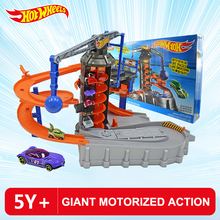 Hot Wheels City Adventure Electric Scene Track Set DPD88 Boy Educational Toy Giant Motorized Action DPD88 The Best Birthday Gift