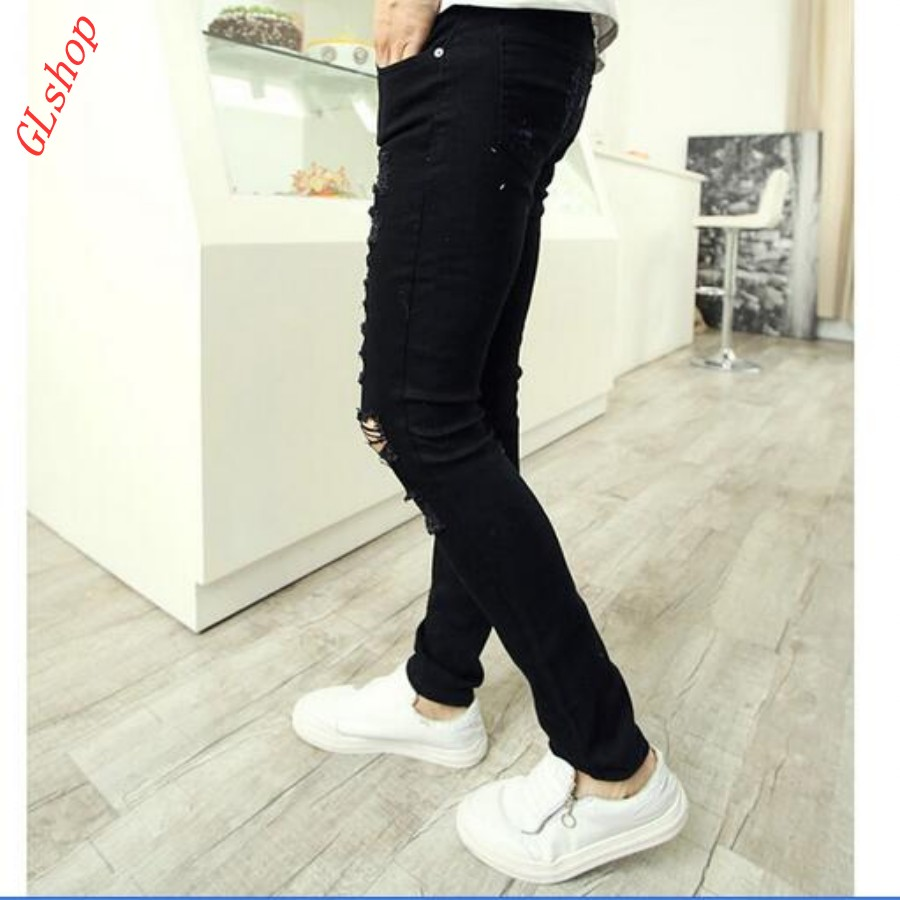 New Stylish Retro Mens Skinny Street Cotton Ripped Jeans Pants Cool Boys Slim Fit Trousers Cowboy Jeans White Free ShippingОдежда и ак�е��уары<br><br><br>Aliexpress