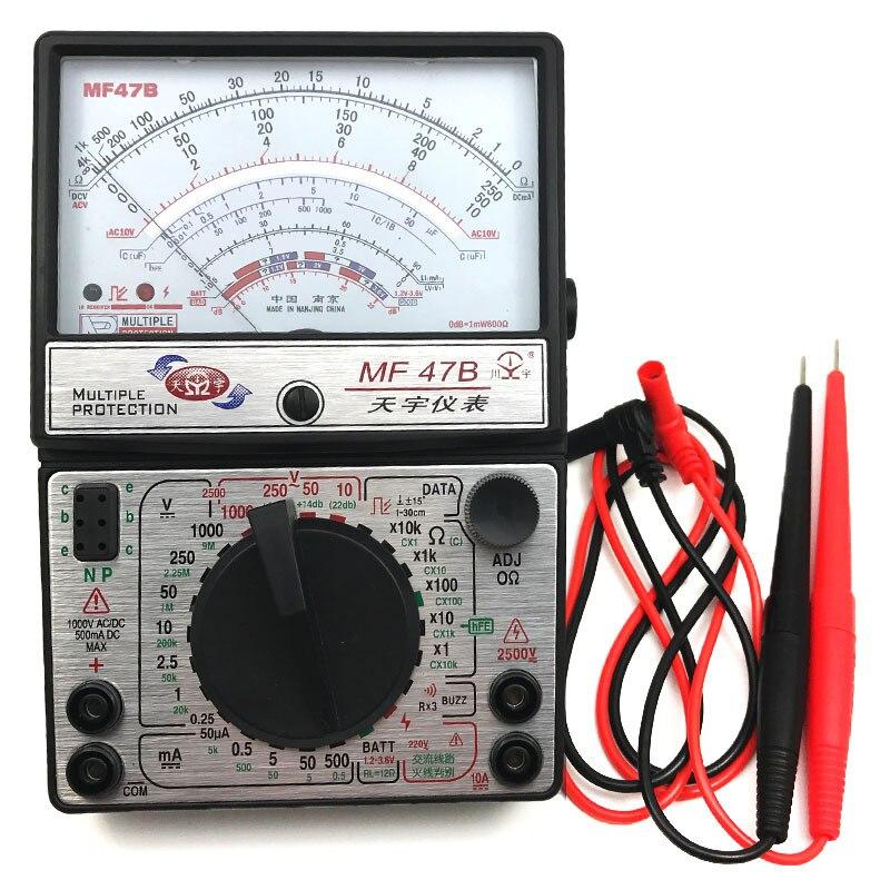 MF47B Voltage Current Tester Resistance Analog Display Multimeter DC/AC<br>