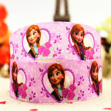 Snow and ice colors Printing ribbon Rib ribbon DIY ribbon bow material package mail 10 yards cartoon handmade 22 mm ribbon jewel