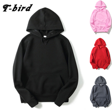 T-bird 2017 Fashion Hooded Funny Solid Colors Men And Women Hoodies Fitness Streetwear Hip-hop Tracksuits Pullover Sweatshirts