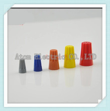 100PCS Electrical Wire Twist Nut Connector Terminals Cap Spring Insert Assortment 4 Colors Red Yellow Blue Orange
