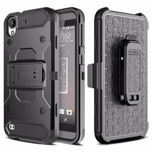 For HTC Desire 530 630 PC + Silicone Hybrid Heavy Duty Military Shockproof Armor Case For For HTC 530 630 Belt Clip Strap Cover
