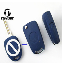 Modified Flip Folding Remote Key Shell For Fiat Uncut Blade Case Blanks Side 1 Button(China)