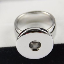 2pcs/lot Mix sizes 6, 7,8,9,10 statement high quality 18-20mm stainless steel snap button rings jewelry for men