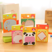 2016 Lovely  Mini Animal Romantic Memo Pad Sticky Kawaii Paper Sticker Post It Note for Kids Gifts Korean Stationery