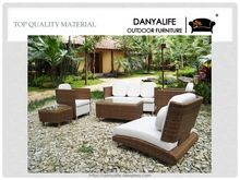 DYSF-D7606 Danyalife Luxury Outdoor Furniture Rattan Wicker Garden Sofas