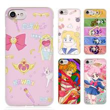 Sailor Moon Crystal Cute Version funny Clear Cell Phone Case Cover for Apple iPhone 4 4s 5 5s SE 5c 6 6s 7 7s Plus