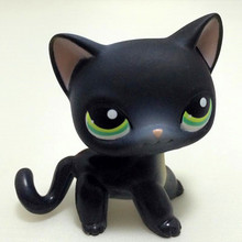 Lovely Pet SHOP Collection Figure Toy Black Short Hair Siamese kitty Blue Eyes LPS#994 Nice Gift Kids