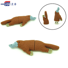 cartoon brown duck usb flash drive disk memory stick Pen drive personalized mini platypus PC gift pendrive 4gb 8gb 16gb 32gb
