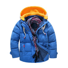 2016 new winter Girls Kids boys Warm thicker coat Down jacket outer clothing comfortable cute baby Clothes Children Clothing(China)