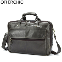 OTHERCHIC 3 Layers Brand Portfolios Briefcase Genuine Leather Business Bag Vintage Men Messenger Bags Lawyer Handbags 7N06-28(China)