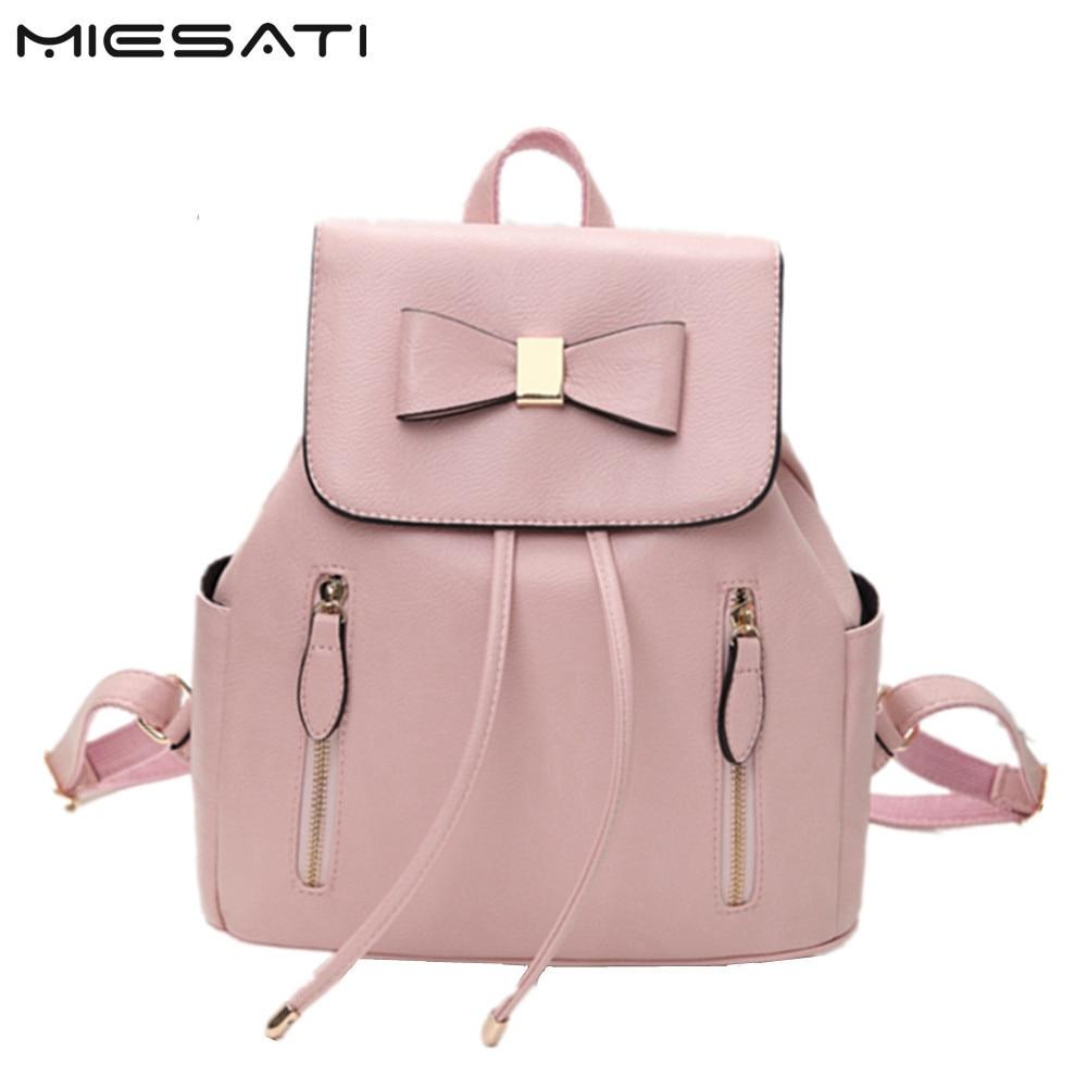 MIESATI Women Backpack Back To School Backpack New Fashion Female Bag Bagpacks For Teenage Girls Pu Leather Sac A Dos Back Pack<br>