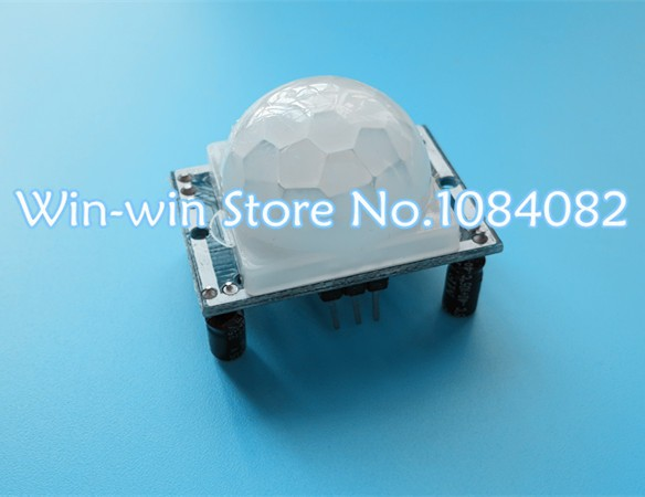 50pcs/lot SR501 HC-SR501 Adjust IR Pyroelectric Infrared PIR module Motion Sensor Detector Module 3