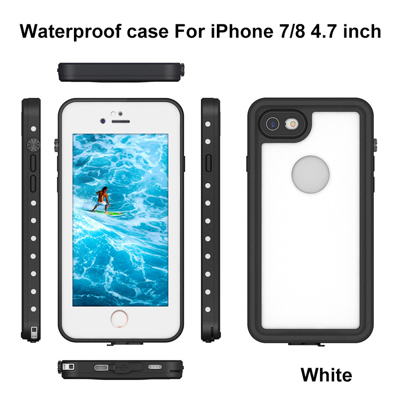 8.For iphone 7 8 plus waterproof case