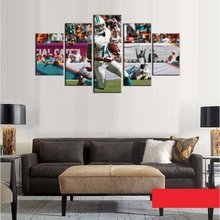 Cool Miami Dolphins Football Team Oil Painting 5 Pcs/Set On Canvas Wall Art Photo Home Decor No Frame