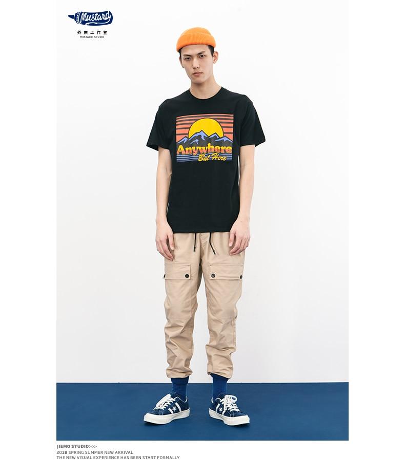 SODA 2018 Marque Vêtements 100% Coton Manches Courtes T-shirts 4