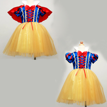 New design girl snow white princess costumes cosplay cute kids performance clothes cartoon Christmas dress party clothing(China)