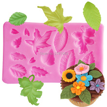 Cake Mold Mini leaf Silicone Mold Chocolate Fondant TOOLS Cake Decorating Baking Tool Bakeware Pudding M235,9.8*6*0.8cm