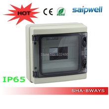 Hot sale 8 ways waterproof distribution box HA series IP65 plastic enclosure