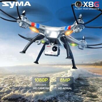 Original syma reciente x8g 2.4g 4ch 6 ejes con 8mp de ancho gran angular HD Cámara RC Quadcopter Drone RTF Helicóptero RC 360 Grados Rollover