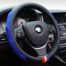 Car-Styling M Microfiber PU Leather Steering Wheel Cover Set For BMW X1 X3 X5 X6 E21 E30 E36 E46 E90 E91 E92 E93 F30 3 Series