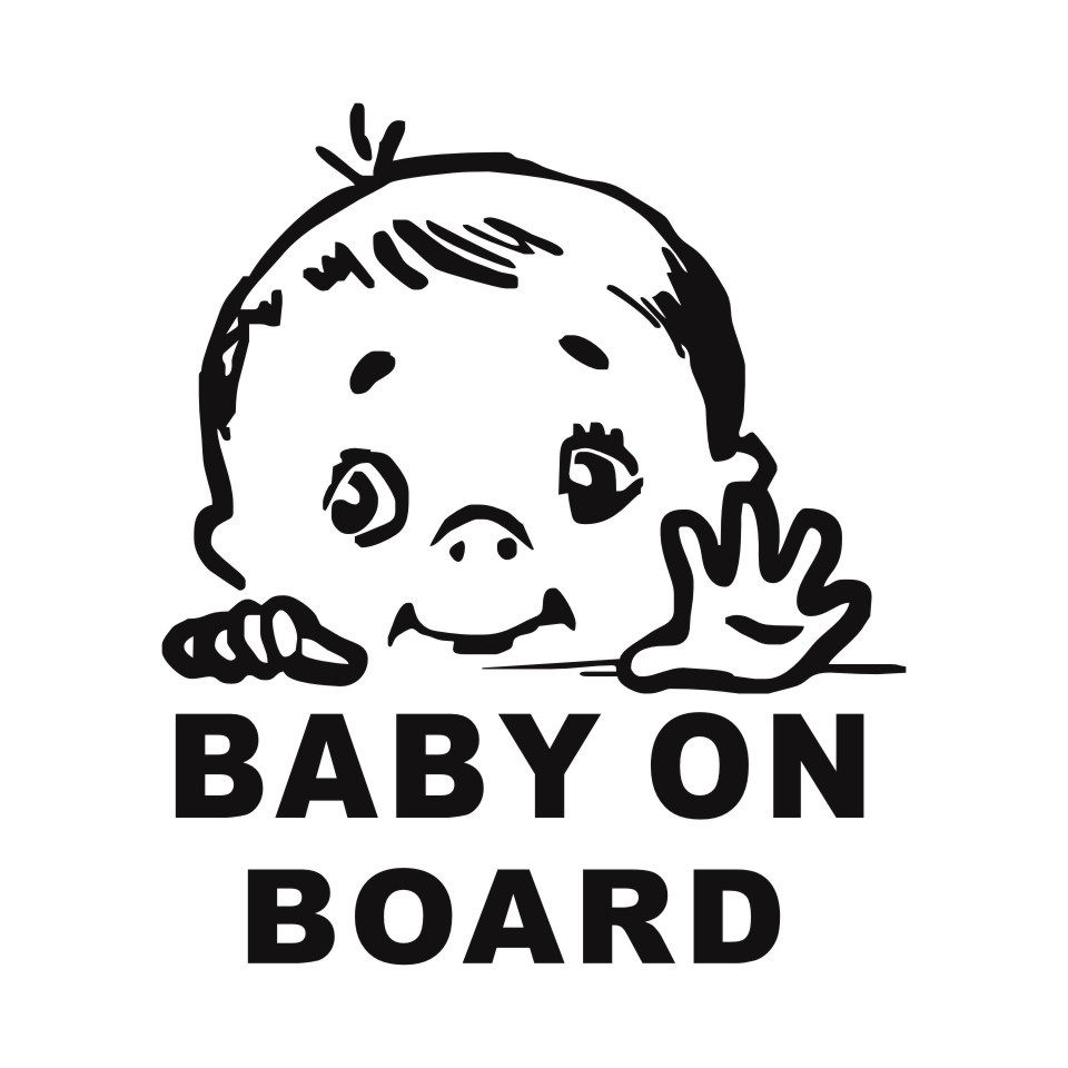 Cunymagos Lovely Child BABY ON BOARD Safety Sign Car Stickers And Decal Vinyl Car Styling Auto Motorcycle Stickers 13.115 (3)