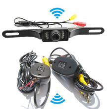 2.4Ghz Wireless Kit Car RCA Video Transmitter and Receiver With IR Backup Rear View Camera for Car DVD Player for BMW E39 46