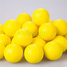 10pcs Indoor Outdoor Sports Training Practice Golf Elastic PU Foam Balls Yellow