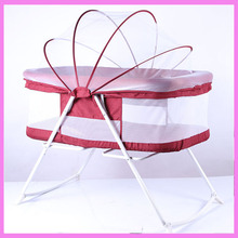 Portable Hanging Baby Crib Netting Newborn Baby Folding Bed Bassinet Convertible Baby Crib Bedding Sets Nursery Furniture(China)