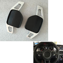 2pc Car accessories Metal Steering Wheel Gear Shift Paddle Extension For Audi A7 A8 A6(C7) 2012-2014 Car styling decoration trim