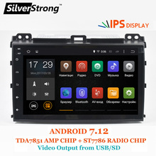 SilverStrong 2Din Android 7.12 Car Stereo Android IPS For TOYOTA Prado120 GX470 for LEXUS Land Cruiser Prado 120 2GB RAM