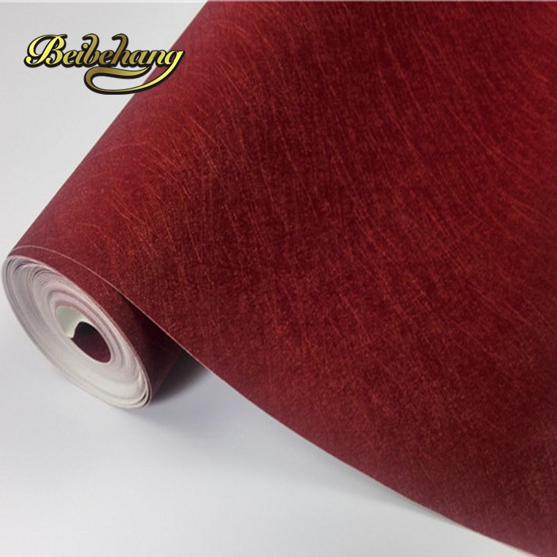 beibehang Silk pure color color light - colored PVC wall paper hotel guesthouse engineering wallpaper papel de parede<br>