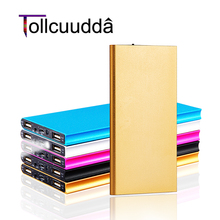 Tollcuudda 18650 Portable Powerbank For Iphone 6 Battery Charger Poverbank For All Mobile Phone Ultra-thin 2USB With Flashlight