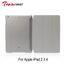 TopArmor New Arrival Hot Sale Ultra Thin Magnetic Leather Smart Cover Case For iPad 2 3 4 Green Free Shipping