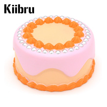 2017 New Brand Kiibru Jumbo Kawaii Cute 12CM Pearl Fruit Cake Super Squishy Slow Rising Bread Bun Kid Toy Gift W/pakcage