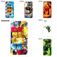 For Apple iPhone X 8 7 6S 6 SE 5C 5S 5 4S 4 Plus For Apple iPhone 4 4S 5 5C SE 6 6S 7 8 Plus X Soft TPU Phone Skin Lego Ninjago(China)