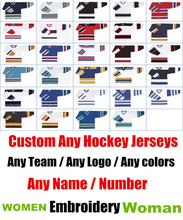Wowan/Womens Hockey Jerseys - Custom ICE Hockey Jerseys Replica Home Away Mens Woman Youth Vintage Jersey USA CANADA Australia